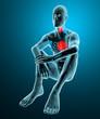 Uomo corpo umano gabbia toracica gola raggi x dolore