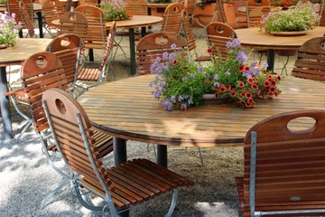 outdoor furniture restaurant decoration
