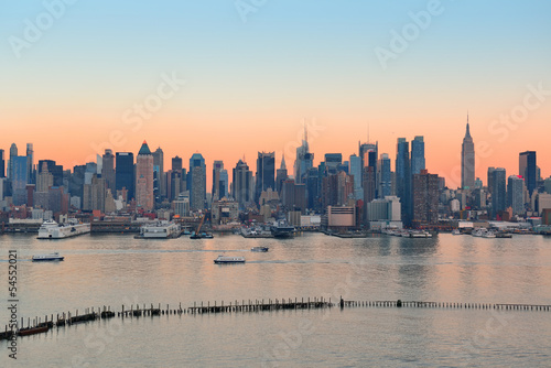 Fototapeten,new york city,manhattan,sonnenuntergänge,panorama