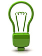 Illustration of green light bulb