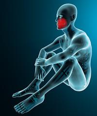 Uomo corpo umano denti mascella raggi x dolore