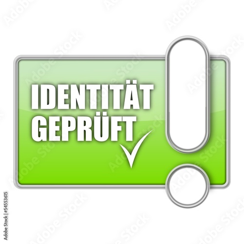 button mr identitaet geprueft I