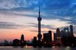 Shanghai morning silhouette