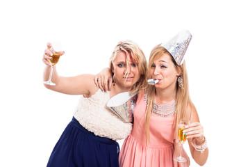 Drunken girls celebrate