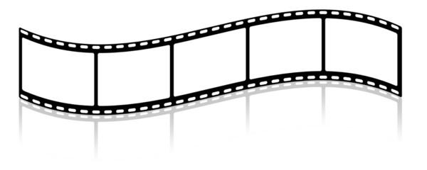 gewellter Filmstreifen