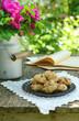 Walnut cookies on garden table