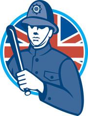 British Bobby Policeman Truncheon Flag