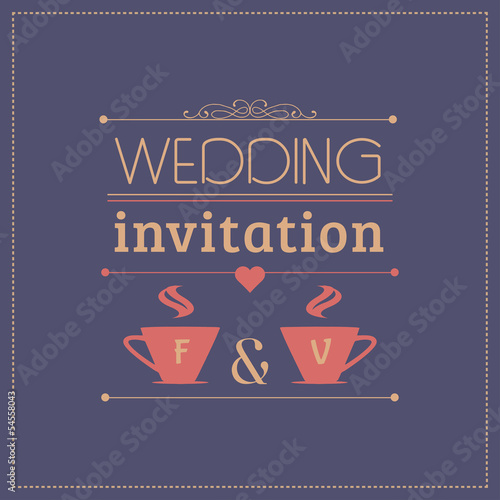 wedding invitation, greeting card