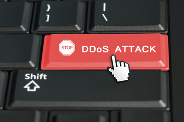 DDoS concept with the focus on the return button