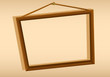 A wooden hanging frame