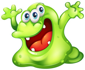 A green slime monster