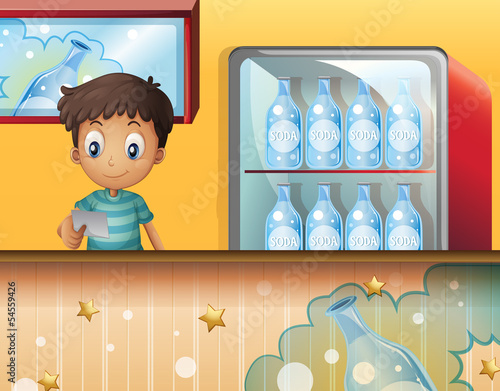A boy in the soda shop