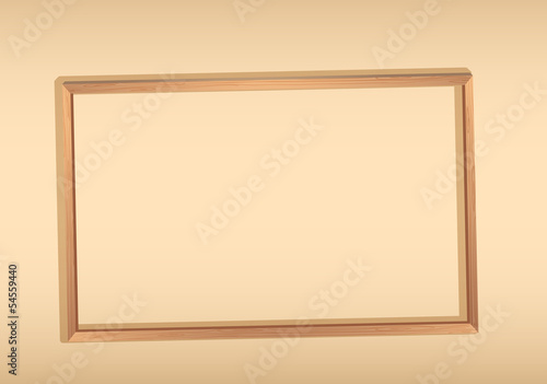 An empty framed signboard