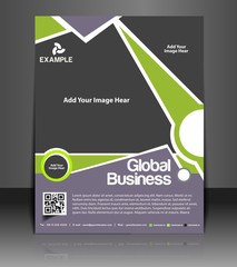 Vector business brochure, flyer, magazine cover