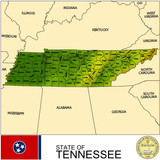 Tennessee USA counties name location map background