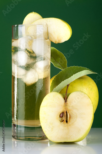 Cider and apple on ice