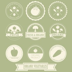 Vegetable Organic Label