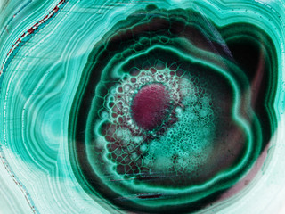 pattern on polished malachite