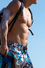 Muscular male body - sixpack