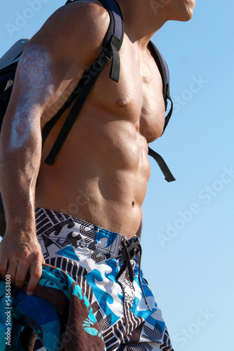 Muscular male body - sixpack