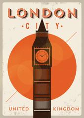 London Vintage Poster Design