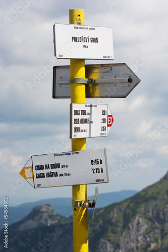 Tourist direction signs