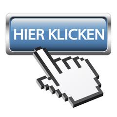 """Button mit 3D Pixelhand """" Hier klicken """""""
