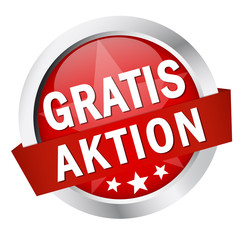 "Button mit Banner "" GRATIS AKTION """