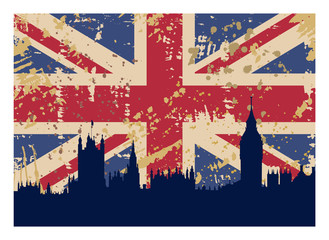 Great Britain's Flag and London