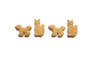 アニマルクッキー犬と猫の行進