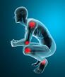 Uomo dolore articolazione ai raggi x