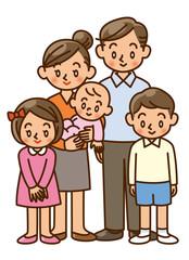 家族 二世代 イラスト