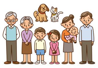 家族 キャラクター 人物 ペット