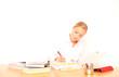 junge Studentin beim lernen
