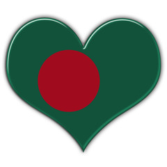 Heart with flag of Bangladesh