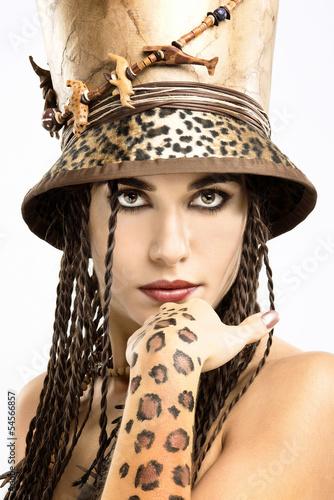 Fototapeten,frau,mädchen,leopard discus,attraktiv