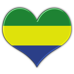 Heart with flag of Gabon