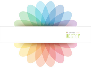 Abstract Colorful Flowerf  background