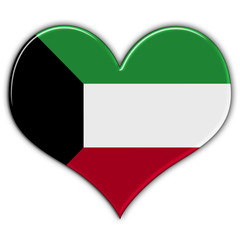 Heart with flag of Kuwait