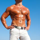 Muscular brutal man poster