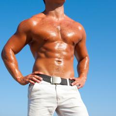 Muscular brutal man
