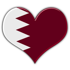 Heart with flag of Qatar