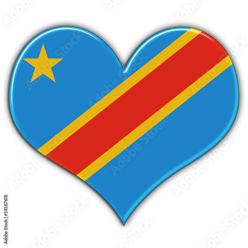 Heart with flag of Democratic Republic of Congo