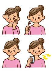 虫歯 女性 イラスト