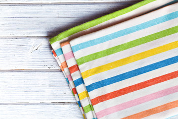the striped kitchen napkin