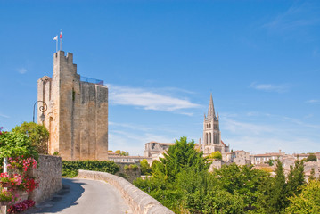 Cityscape of central Saint-Emilion, France