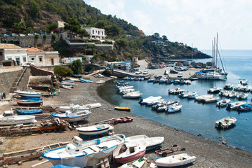harbour in Ustica island, Sicily