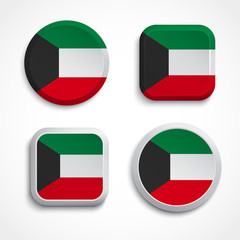 Kuwait flag buttons