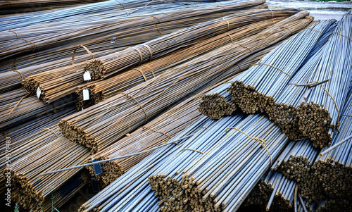 Background texture of steel rods