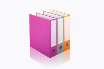 office folders colour 3d